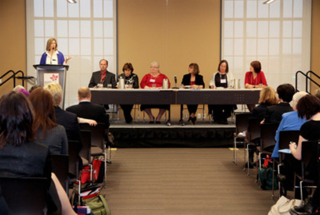 Panelists at the Health Council of Canada's National Symposium on Patient Engagement (CNW Group/Health Council of Canada)