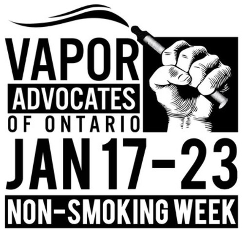 NON SMOKING WEEK (CNW Group/Vapors Advocates of Ontario)