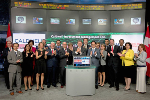 Brendan Caldwell, President & CEO, Caldwell Investment Management Ltd. joined Amelia Nedovich, Head, Business Development, Exchange Traded Funds and Structured Products, TMX Group to open the market to launch Caldwell U.S. Dividend Advantage Fund (UDA.UN). Caldwell provides investment management and advisory services to Canadian and international retail and institutional investors. The firm's investment products include open-end and closed-end funds, accredited investor funds and separately managed accounts. Caldwell U.S. Dividend Advantage Fund (UDA.UN) commenced trading on Toronto Stock Exchange on June 19, 2015. For more information please visit www.caldwellinvestment.ca. (CNW Group/TMX Group Limited)