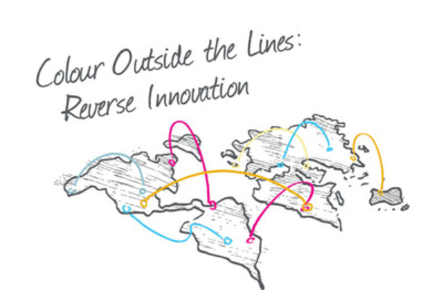 Colour Outside the Lines: A Reserse Innovation challenge logo (CNW Group/International Centre for Health Innovation)