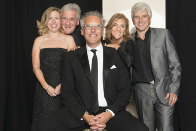On Thursday, September 24, 2015 members of Toronto's arts community gathered to celebrate the opening of the Toronto Symphony Orchestra's (TSO) dynamic 94th season with a special performance by world-renowned violinist Pinchas Zukerman at Roy Thomson Hall followed by an exclusive gala dinner at The Ritz-Carlton, Toronto. Left to Right: Trish Moran, TSO Gala Co-chair; Pinchas Zukerman, special guest violinist; Jeff Melanson, President and CEO, TSO; Renette Berman, TSO Gala Co-chair; and Peter Oundjian, Music Director, TSO.  (Photo Credit: Paul Alexander) (CNW Group/Toronto Symphony Orchestra (TSO))
