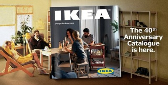 The IKEA 40th Anniversary Catalogue is here. Available across Canada in your local IKEA Store this August 2016. (CNW Group/IKEA Canada)