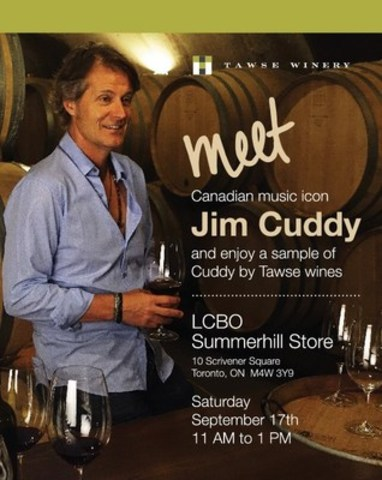Meet Jim Cuddy (CNW Group/Tawse Winery)
