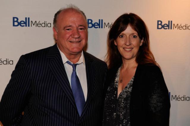 Charles Benoît, président, Télévision et Radio - Québec, Bell Média, et Natalie McNeil, directrice générale, Alliance des producteurs francophones du Canada. (Groupe CNW/Bell Média)