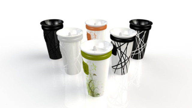 The vertiGOmug by A3D is an innovative way to enjoy your coffee or tea (CNW Group/A3D Innovation)