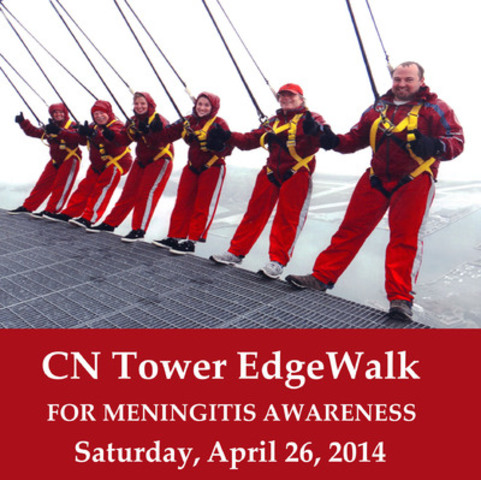 2013 EdgeWalk Participants Join Hands Against Meningitis (CNW Group/Meningitis Research Foundation of Canada)