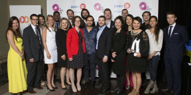 Lauréats du Concours provincial ARISTA 2016 (Groupe CNW/Jeune Chambre de commerce de Montréal)