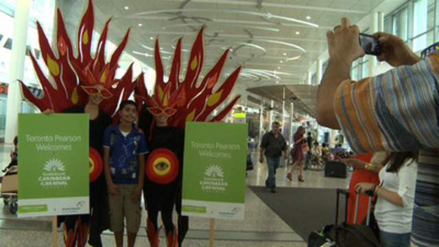 Video: Toronto Pearson surprises airport guests on Tuesday in celebration of the 46th annual Scotiabank Caribbean Carnival Toronto.