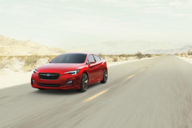 Cette Subaru berline concept Impreza donne un aperçu de l'Impreza nouvelle génération. (Groupe CNW/Subaru Canada Inc.)