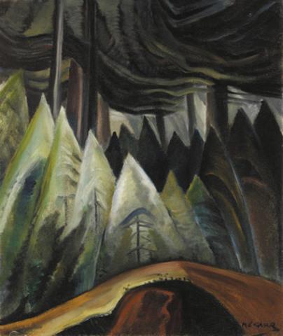 L'un des chef-d'oeuvres de la vente printanière de la Maison Heffel est la toile Forest Light d'Emily Carr qui apparaît sur la page couverture du catalogue de beaux-arts canadiens (tableau évalué entre 400 000$ et 600 000$).  (Groupe CNW/Heffel Gallery Limited)