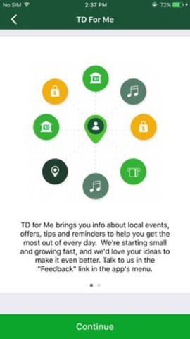 Enable TD for Me to be instantly in the know about TD-related special offers, helpful tips and events. (CNW Group/TD Bank Group)