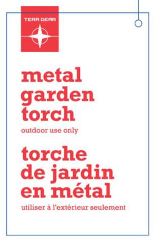 Torches de jardin en métal de marques TeraGear et PC - CUP 0 58703 04799 (Groupe CNW/Les Compagnies Loblaw limitée)