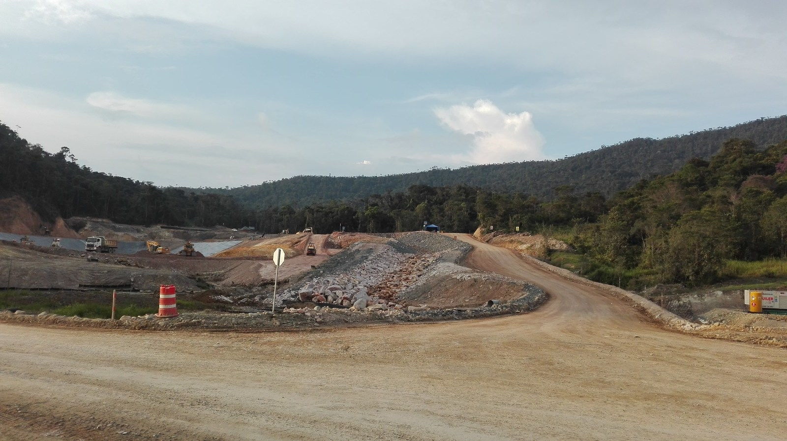 Figure 6. Construction of the Tailings Storage Facility ongoing
