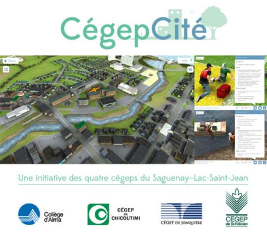 CégepCité est une ville virtuelle qui permet de découvrir les programmes techniques des quatre cégeps du Saguenay-Lac-Saint-Jean. Vous pouvez télécharger l'application gratuitement, et ce, dès aujourd'hui sur les plateformes et systèmes d'exploitation les plus couramment utilisés. www.cegepcite.com (Groupe CNW/Cégep de Chicoutimi)
