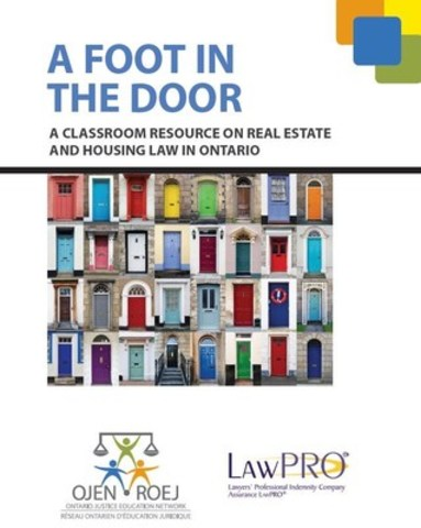 Lesson plans developed by LAWPRO and OJEN address two important life skills - legal understanding and financial literacy. (CNW Group/The Law Society of Upper Canada)