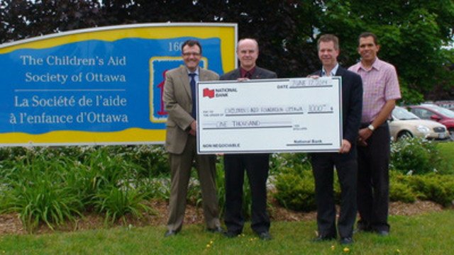 National Bank of Canada, making a difference in our community through the Children's Aid Foundation of Ottawa (CNW Group/Children's Aid Society of Ottawa)