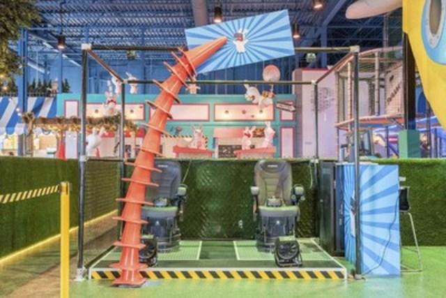 Zone de réalité virtuelle au Centre d'amusement Les Lapins Crétins (Groupe CNW/Ubisoft)