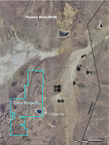 Image 1 - Ariel View of Cove Project (CNW Group/Premier Gold Mines Limited)