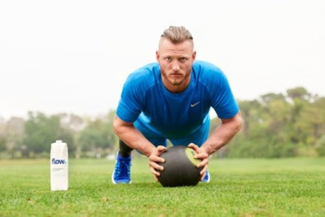 Flow Water Inc. launches Mind, Body & Flow marketing campaign across North America featuring Pro Athlete and MVP Josh Donaldson. (CNW Group/Flow)