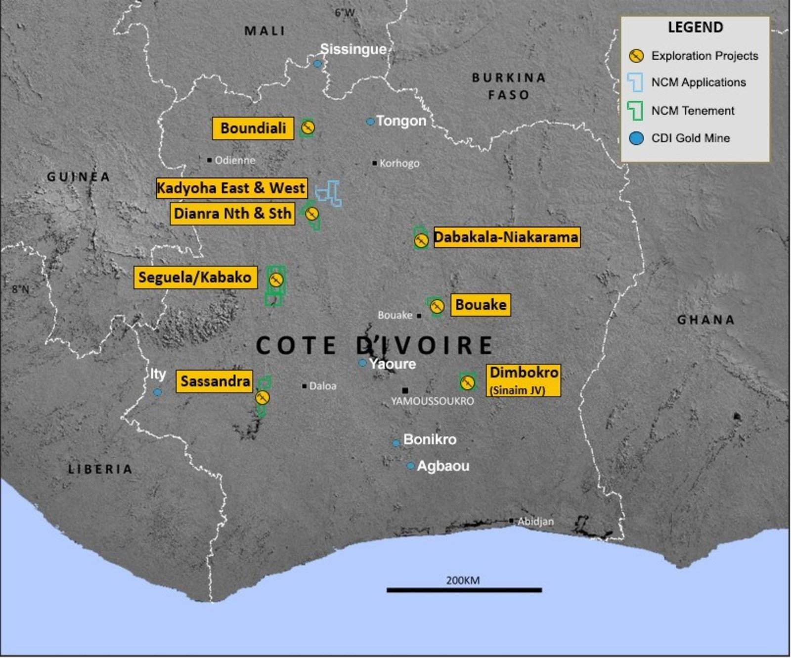 Figure 1: West African Regional Exploration Portfolio
