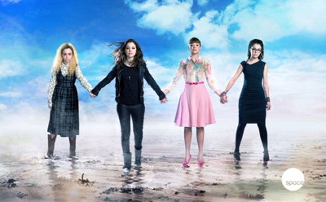 #Sestrahood: L to R: Helena, Sarah, Alison, Cosima (Tatiana Maslany). To download the Canadian exclusive ORPHAN BLACK Season 3 artwork, see below. (CNW Group/SPACE)