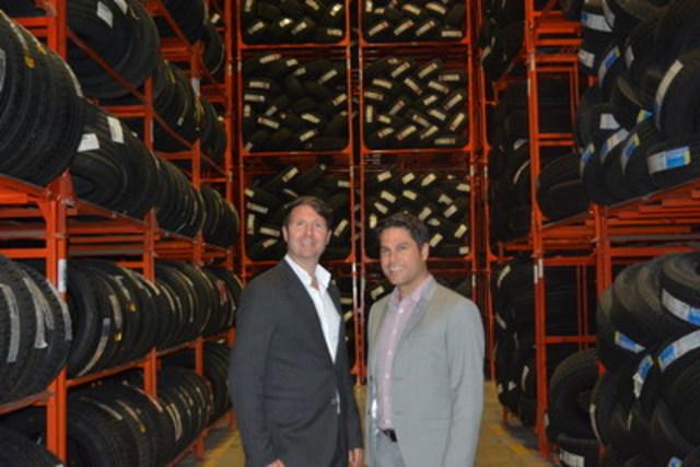 De gauche à droite - Nicolas Touchette, Chef de la direction et Frédéric Bouthillier, Chef de l'exploitation, Groupe Touchette (Groupe CNW/Groupe Touchette inc.)