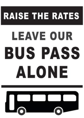 Raise The Rates, Leave Our Bus Pass Alone (CNW Group/Inclusion BC)