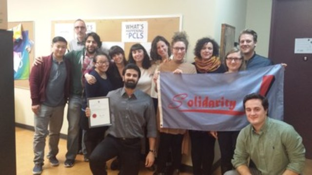 Summer caseworkers at Parkdale Community Legal Services unanimously ratify first contract (CNW Group/Ontario Public Service Employees Union (OPSEU))