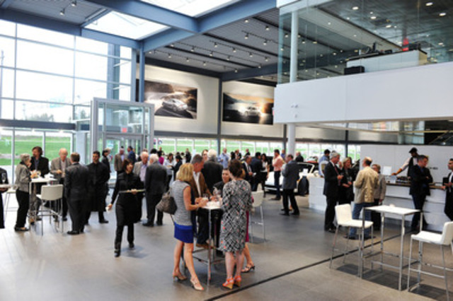 Over 100 guests joined Howard, Barclay & Associates at Porsche Centre Oakville to celebrate the firms 20th Anniversary. (CNW Group/Howard, Barclay & Associates Ltd.)
