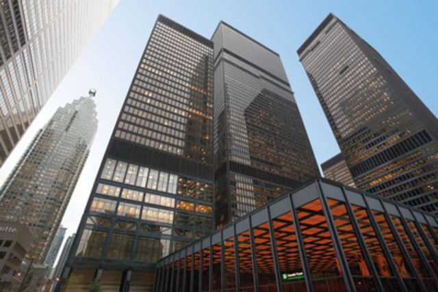 The Toronto-Dominion Bank tower joins an impressive roster of sustainable buildings at the Toronto-Dominion Centre (TD Centre) complex, including LEED(R) Gold certified buildings 77 King Street West and 79 Wellington Street West, and LEED(R) Platinum certified 100 Wellington Street West. (CNW Group/Cadillac Fairview Corporation Limited)