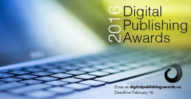 Call for Entries Now Open for The Digital Publishing Awards (CNW Group/National Magazine Awards Foundation)
