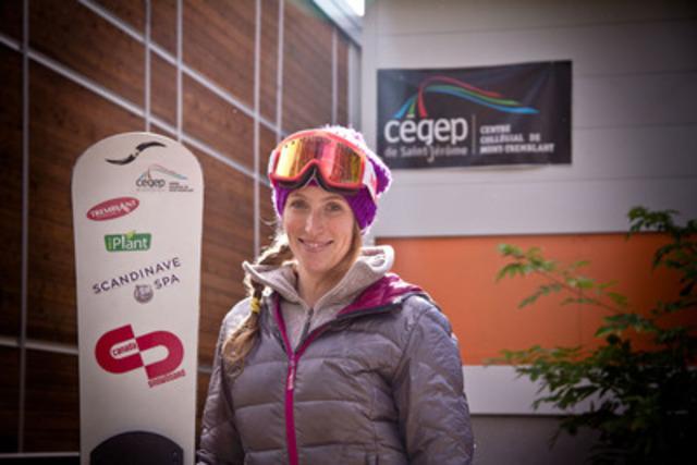 Ariane Lavigne, porte-parole du Centre collégial de Mont-Tremblant, espoir olympique et nutritionniste (Groupe CNW/Cégep de Saint-Jérôme)