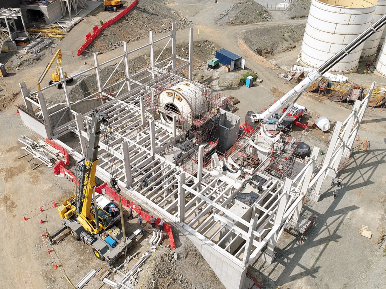 Image 2: Grinding Area Construction Underway
