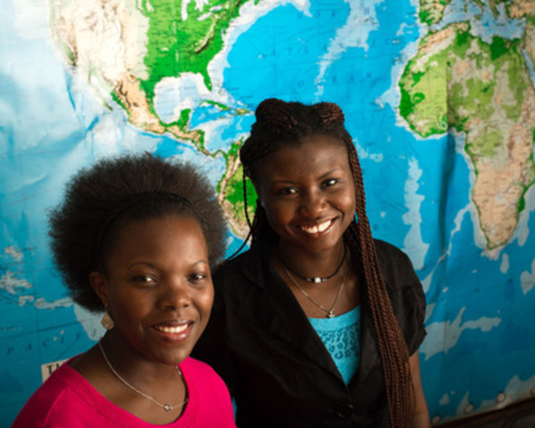 Currently enrolled at Michigan State University, MasterCard Foundation Scholar Program graduate students Rebecca Nassimbwa (left) from Uganda, studying rehabilitation counseling and Mavis Dome (right) from Ghana, studying public policy. (CNW Group/The MasterCard Foundation)