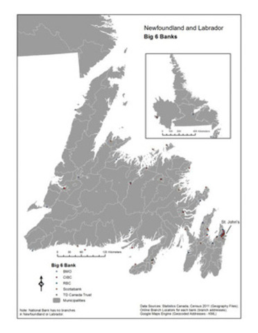 Newfoundland and Labrador - Big 6 banks (CNW Group/Canadian Union of Postal Workers)