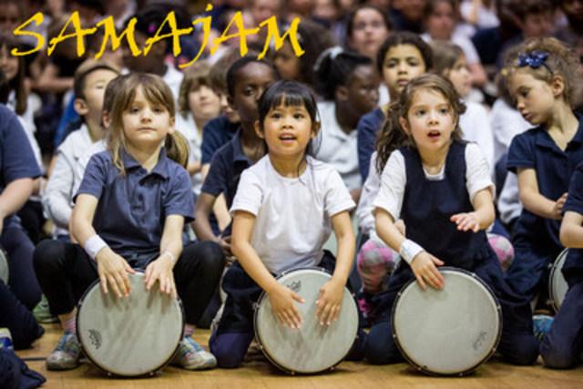 14 000 enfants en 7 années ! Le Projet Persévérance Scolaire Samajam favorise la réussite scolaire par la préparation de grands spectacles de percussions d'écoles de secteurs défavorisés. (Groupe CNW/École des percussions du Québec)