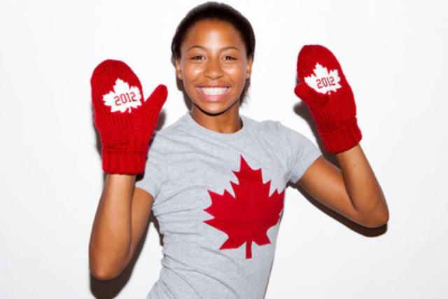 La plongeuse olympique des Jeux de 2008 Jennifer Abel (Laval, QC) aime la version 2011-2012 des mitaines rouges de l'Équipe olympique canadienne. Pour chaque paire de mitaines vendue, trois dollars serviront à soutenir les athlètes olympiques canadiens qui se préparent pour les Jeux olympiques de 2012 à Londres. (Groupe CNW/COC)