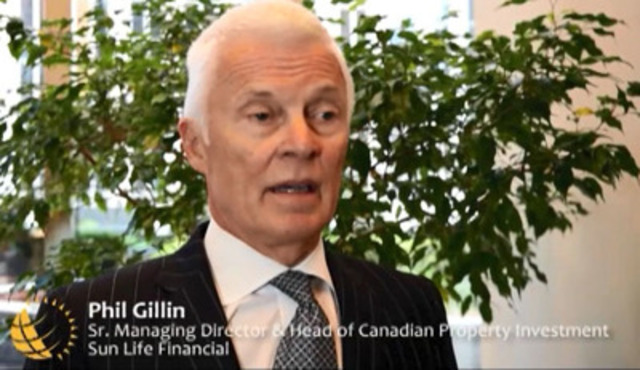 "Video: ""Sun Life Financial is honoured to be viewed as a leading corporate citizen,"" says Phil Gillin, Senior Managing Director, Head of Canadian Property Investment, Sun Life Financial."