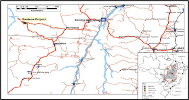 Location of Santana Project in Pará State, Brazil (CNW Group/MBAC Fertilizer Corp.)