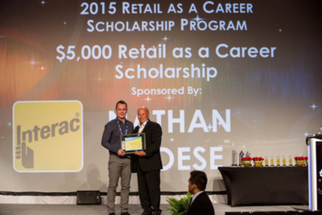 Nathan Froese is the top applicant of the 2015 Retail as a Career Scholarship Program (CNW Group/Retail Council of Canada)