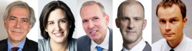 Speakers for the CJF J-Talk in Toronto on Nov. 30 include Harper's Magazine's John R. MacArthur, Toronto Life's Sarah Fulford, The Walrus's Jonathan Kay, Rogers Media's Steve Maich and ZoomerMedia's Laas Turnbull (moderator). (CNW Group/Canadian Journalism Foundation)