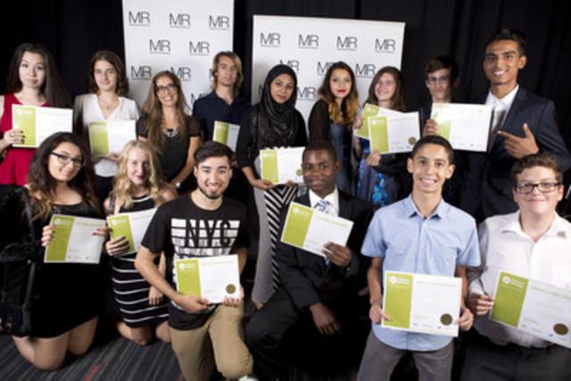 Élèves méritants Classes Affaires de la cohorte 2015 (Groupe CNW/Montréal Relève)
