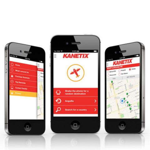 KANETIX.ca newly updated Travel App now features Google Places. (CNW Group/Kanetix)