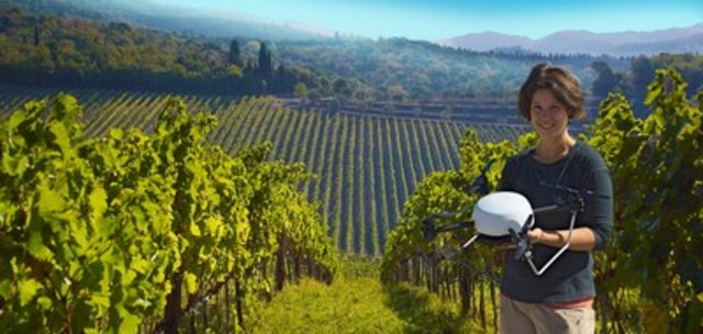 SkySquirrel has worked for the past three years with partners in Canada (photo), California, France and Chile to develop its drone-based imaging technology for detecting disease in vineyards. (CNW Group/SkySquirrel Technologies)