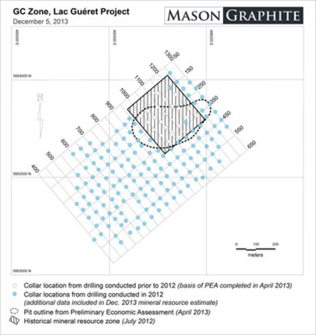 Figure 1 - GC Zone, Lac Guéret Project. (CNW Group/Mason Graphite Inc.)