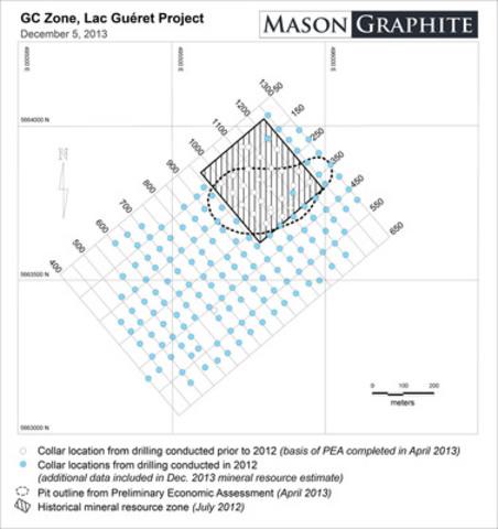 Figure 1 - GC Zone, Lac Guéret Project. (CNW Group/Mason Graphite Inc.)
