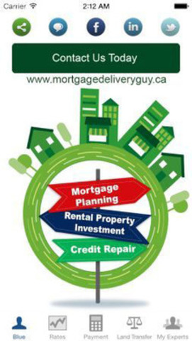Majority Canadian mortgage seekers & Realestate experts who checked this app agreed, it to be elegantly Simple, Comprehensive and social yet Extremely Productive mortgage app. Qualifying rate, insurance premiums, Best lowest rates for Mortgages & LOC, Land Transfer Tax etc in one place. Become productive today, download this app. (CNW Group/Mortgage Delivery Guy)