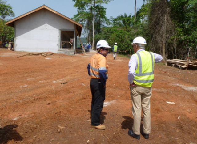Endeavour's Chairman, Michael Beckett, in conversation with Jeremy Langford, SVP Projects during February HSE committee site visit (CNW Group/Endeavour Mining Corporation)