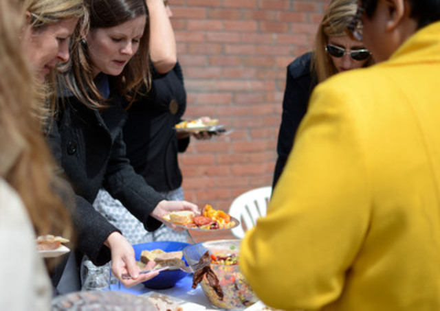Children's Aid Foundation staff welcomed spring yesterday by taking part in Canada's Biggest Potluck ...