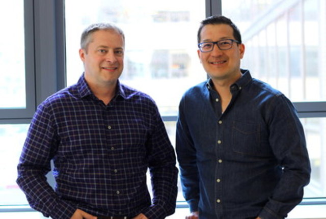 (Left) Steve Woods, Nudge Co-founder and CTO. (Right) Paul Teshima, Nudge Co-founder and CEO. (CNW Group/Nudge ...
